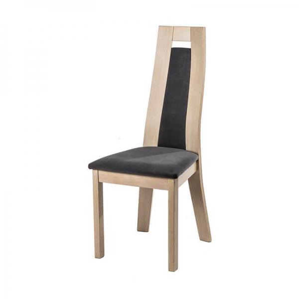 Chaise française en bois de chêne et tissu style contemporain - Cera - 2