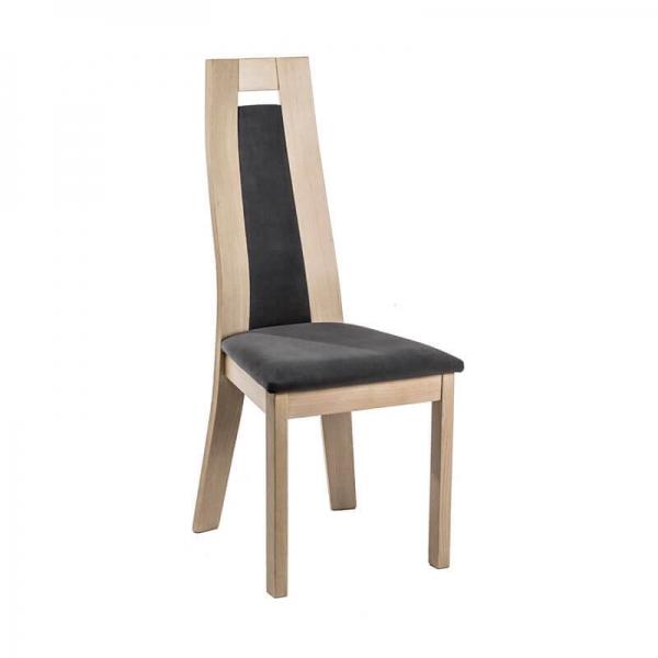 Chaise made in France contemporaine en tissu et bois - Cera - 1