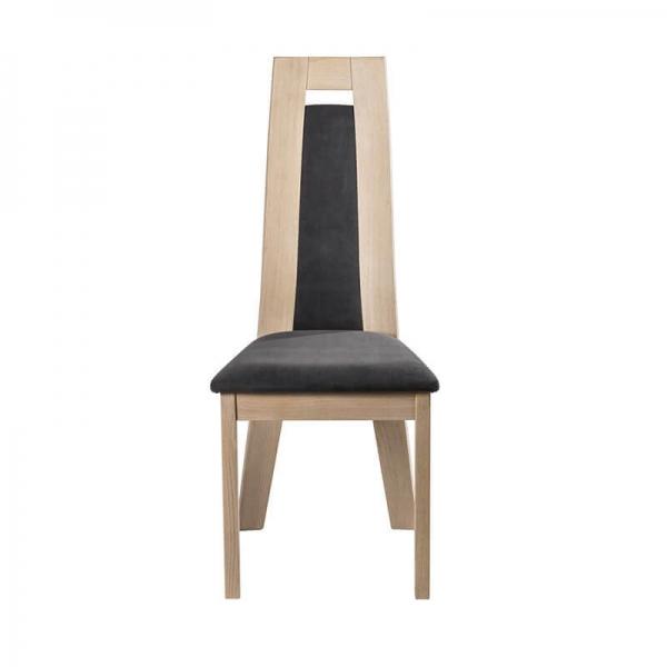Chaise française contemporaine en bois et tissu fabrication française - Cera - 4