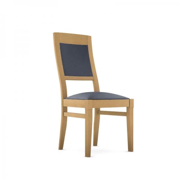 Chaise en bois française avec assise synthétique - Vintage - 1