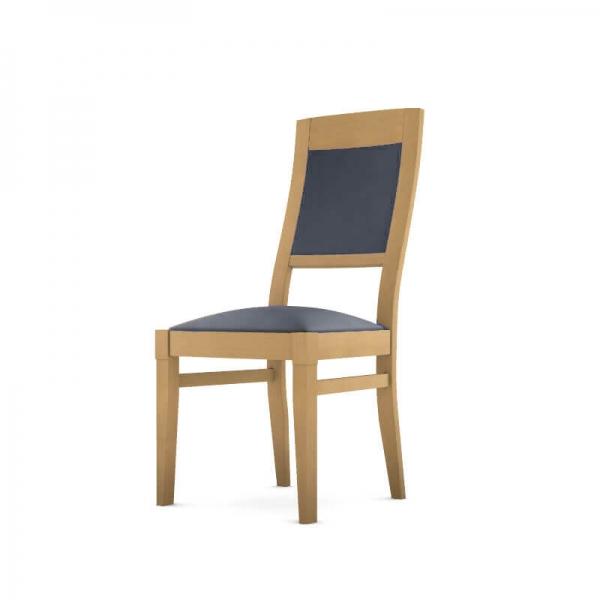Chaise tissu et bois fabrication française - Vintage - 2