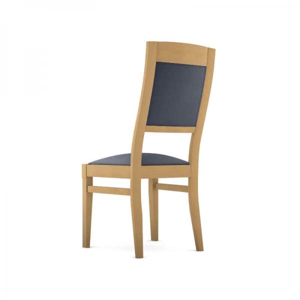 Chaise made in France en bois avec revêtement - Vintage - 3