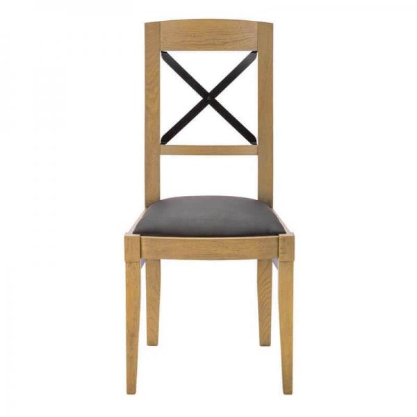 Chaise revêtement tissu en bois fabrication française - Loft - 3