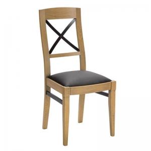 Chaise française en bois et synthétique - Loft