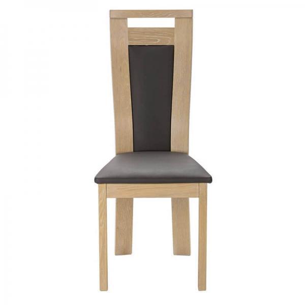 Chaise contemporaine en bois massif et synthétique made in France - Lizo - 3