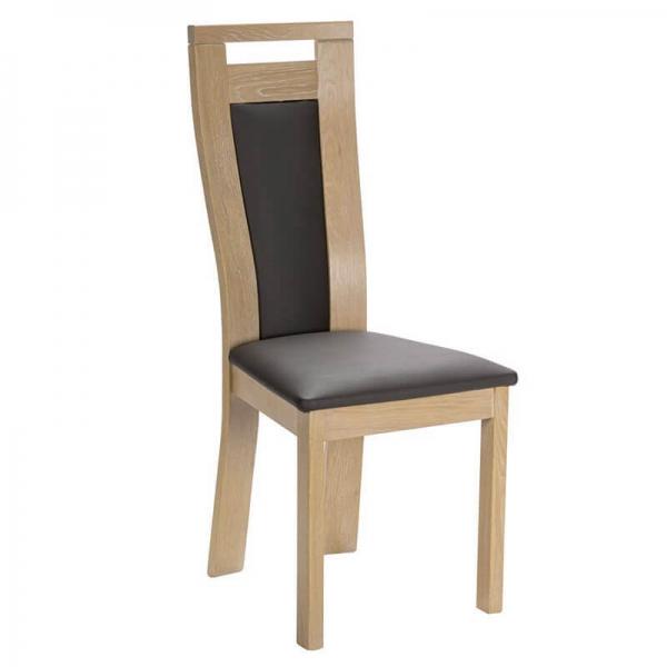 Chaise made in France contemporaine en bois et synthétique - Lizo - 1