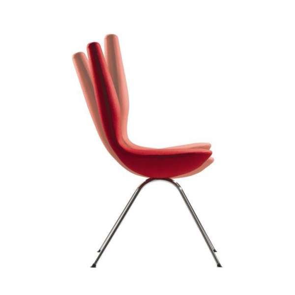 Chaise design ergonomique rouge Date Varier® - 4