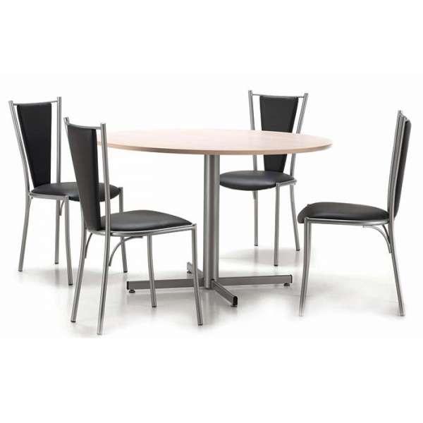 Table ronde de cuisine en mélaminé - Voyager - 2