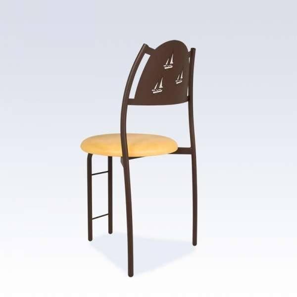 Chaise française avec dossier à motif - Gaëlle - 2