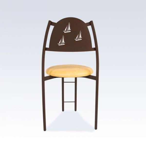 Chaise de cuisine avec dossier à motif - Gaëlle - 3