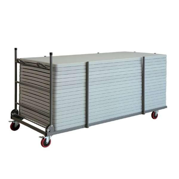 Chariot de stockage et de transport pour table pliante - 1