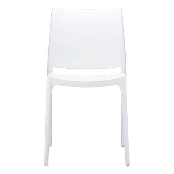Chaise blanche design en plastique polypropylène - Maya - 13