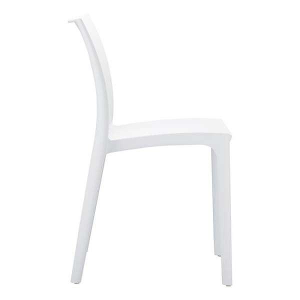 Chaise blanche empilable en plastique polypropylène - Maya - 14