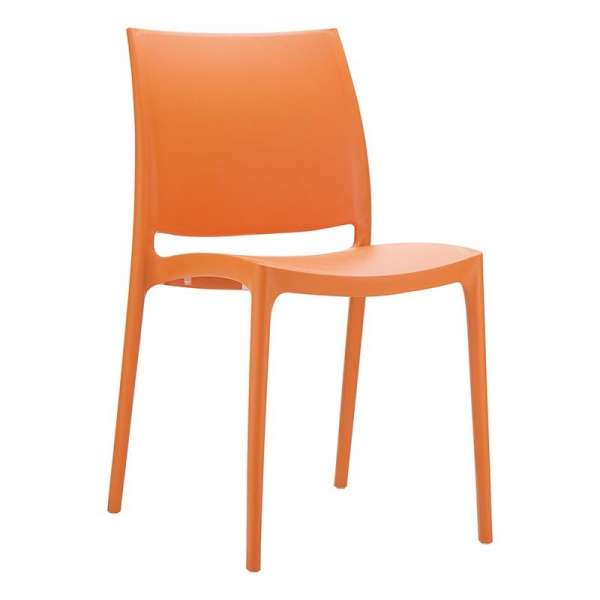 Chaise orange en plastique polypropylène - Maya - 16