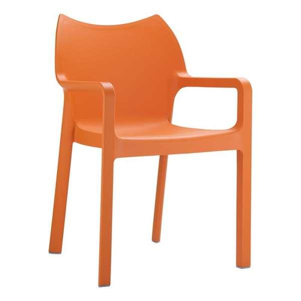 Fauteuil orange en polypropylène - Diva - 5