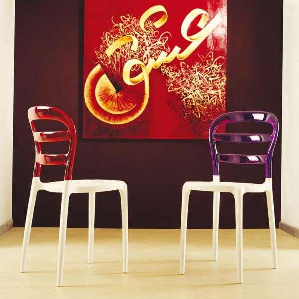 Chaise design en plexi et polypropylène - Miss Bibi - 8