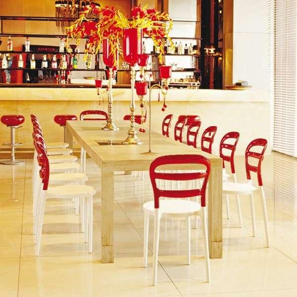 Chaise design en plexi et polypropylène d'intérieur - Miss Bibi - 10