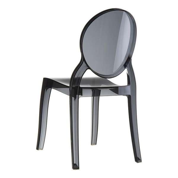 Chaise moderne en plexi transparent noir Elizabeth - 13