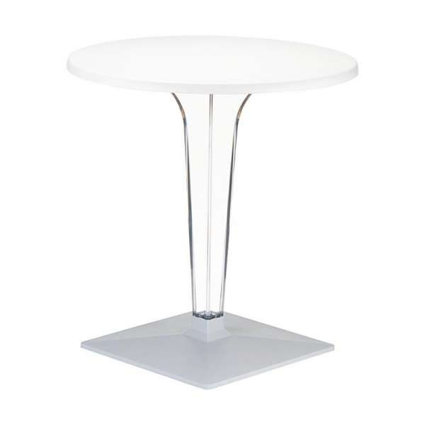 Table design ronde blanche - Ice 2 - 2
