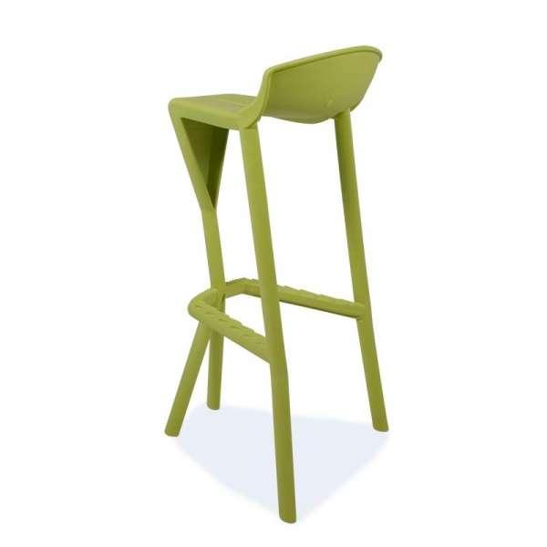 Tabouret vert design en plastique - Shiver - 16