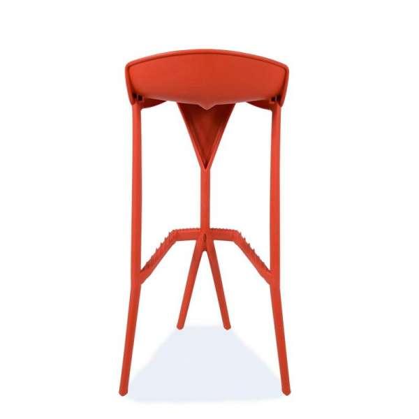 Tabouret rouge design en plastique - Shiver - 10