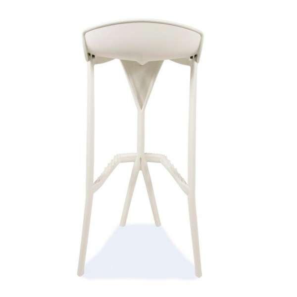 Tabouret blanc en plastique - Shiver - 27