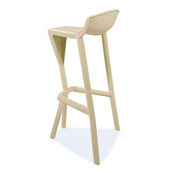 Tabouret design empilable beige - Shiver - 29