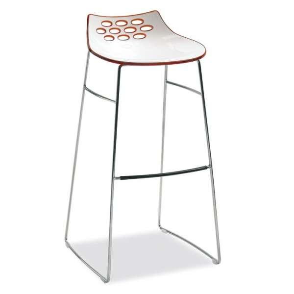 Tabouret de bar design bicolore en plexi hauteur 80 cm - Jam  Connubia®