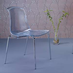 Chaise design en polycarbonate transparent Allegra