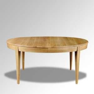 Table ovale en bois massif extensible fabriquée en France – Moderne MO