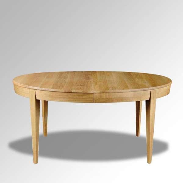 Table ovale en bois massif extensible fabriquée en France – Moderne MO - 1