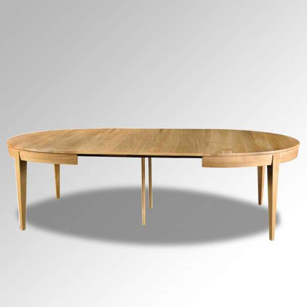 Table  française ovale en bois massif avec allonges – Moderne MO - 2