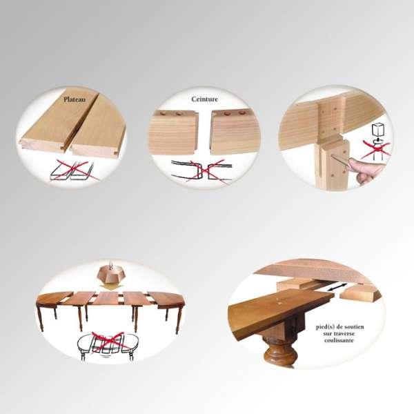 Table en bois carrée Moderne avec allonges - 3