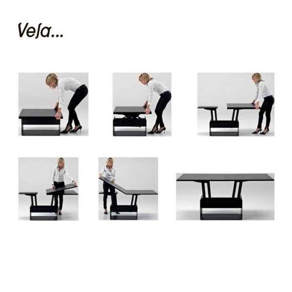 Table basse contemporaine modulable en bois - Wind - 6