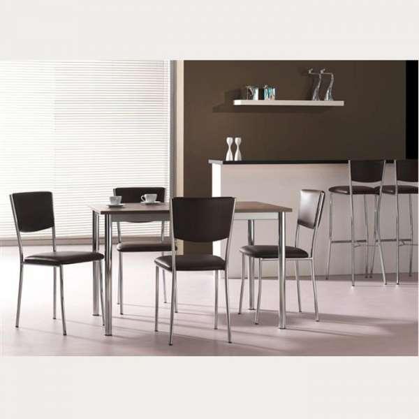 Chaise de cuisine en métal et vinyl - Ruby - 3