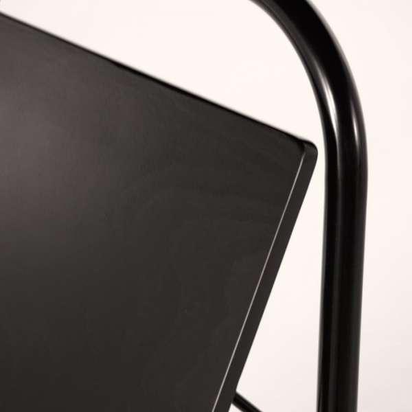 Tabouret pliable en métal noir - Simone - 6