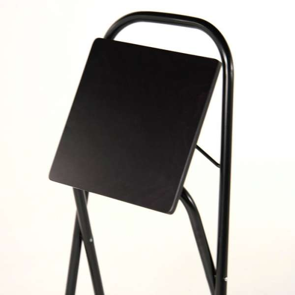Tabouret pliant en métal noir - Simone - 5