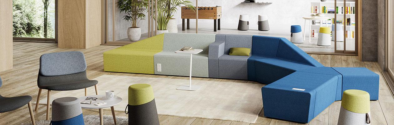 Chaise design haut de gamme pour espace d'attente